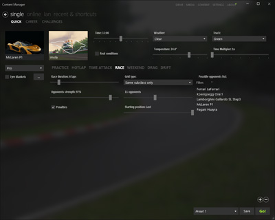 Content Manager - alternative launcher for Assetto Corsa